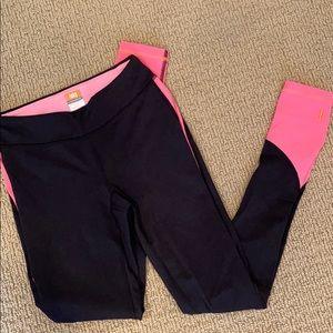 NWOT Lucy yoga pants black hot pink peach